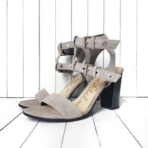 Sam Edelman Enya Strappy Gray Suede Sandals